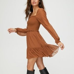 Wilfred tempest dress in terrazzo brown